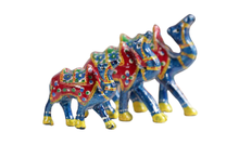 Multi colour Solid Wood Camel Showpieces - Set of 3