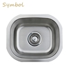 Small round sink with pedestal strainer drainers 1 overflow