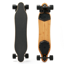 High Performance Dual Motors With Belts 985*215mm Size Bamboo Plank Long Electric Skateboard