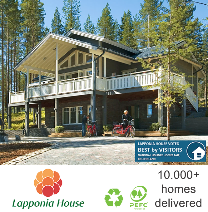 Award-winning ecological prefabricated log house | wooden house | log home | timber house | pre-fab house