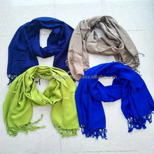 cashmere feel Hot selling plain viscose pashmina shawl