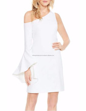 White One-Shoulder Sheath Dress Cocktail Dress For Women