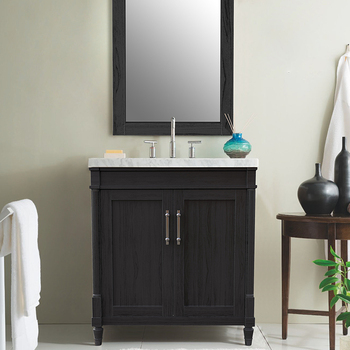 Maenan-30  30 inch solid wood+MDF American style freestanding single basin bathroom vanity