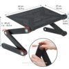 Wonder Worker Newton Ergonomic Folding Laptop Table, Adjustable Laptop Stand, Portable Desk for Laptop, Bed Tray Cooling Pad