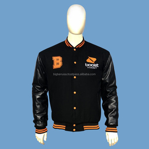 Promotional Wool and Leather Varsity Jacket