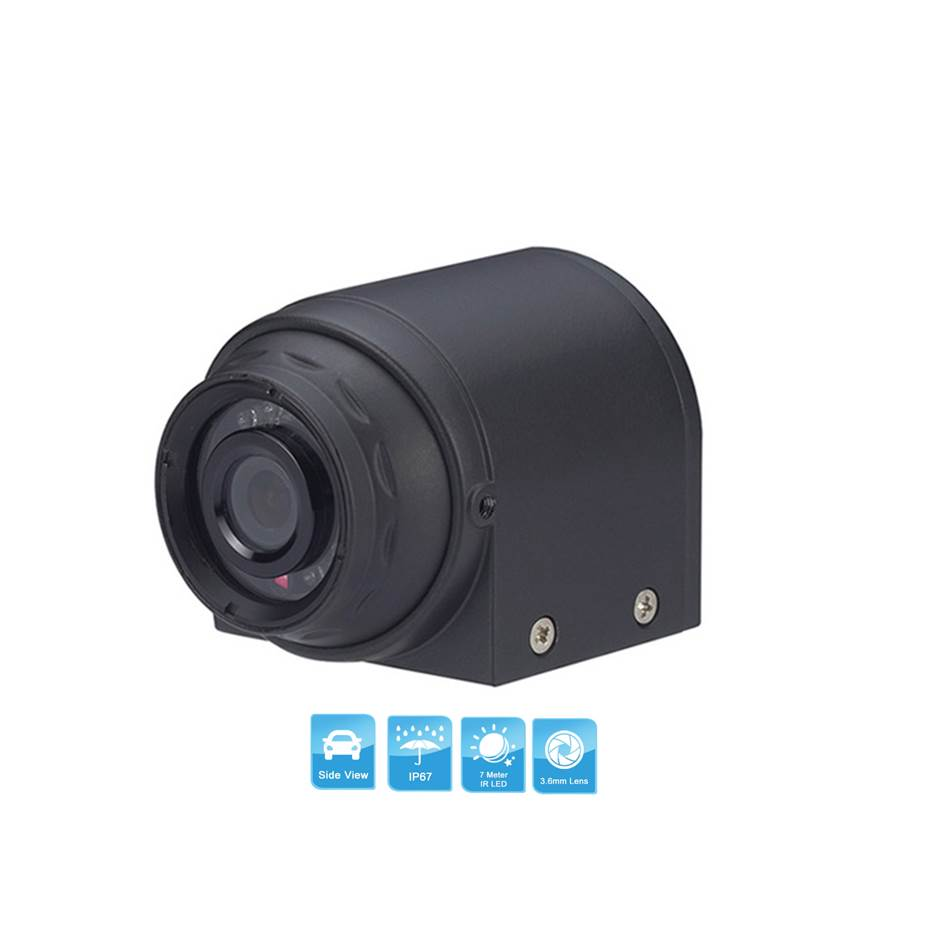 IP67 Color CCD Vehicle Mounted Side View Camera