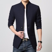 Blazer Men Slim Casual- New Fashion Business Suit for Men Casual Slim Fit One Button Velvet Suit Blazer Coat Jackets
