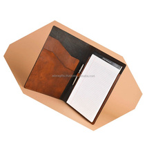 A4 Leather Office Stationery File Folder With Pockets