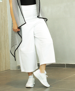 Women High Waist Wide Leg Crop Pants /Elegant Clothes Spring Summer Whole Sale Fashion Design Style OEM/ODM High Quality