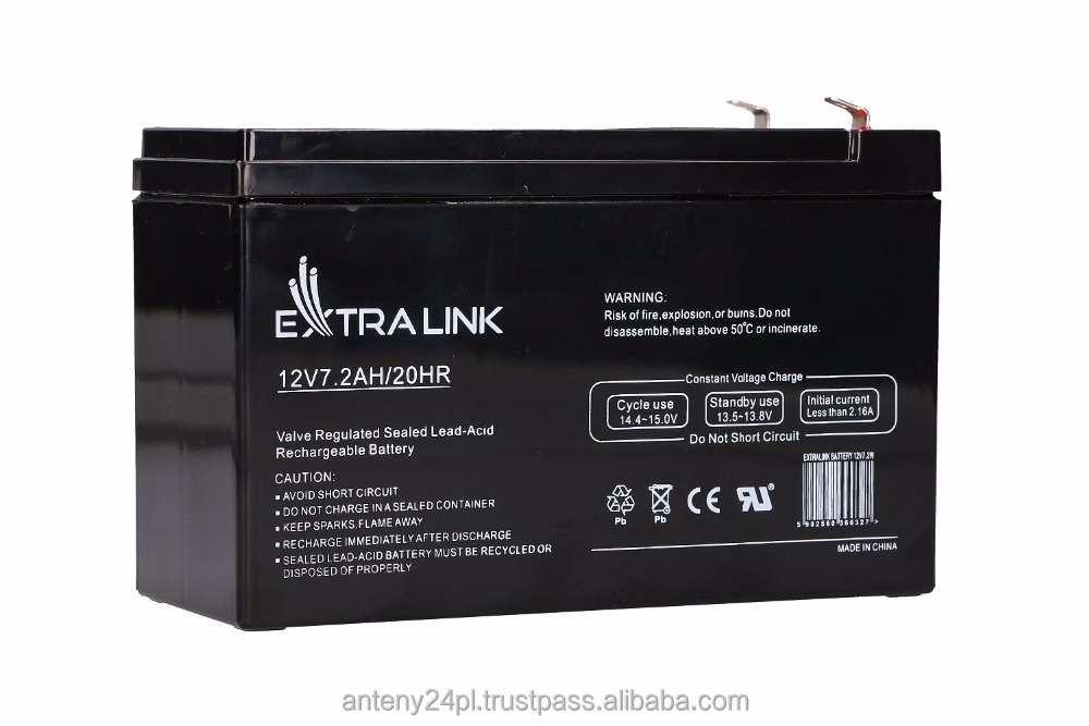 EXTRALINK AKUMULATOR BATTERY ACCUMULATOR 12V 7.2AH