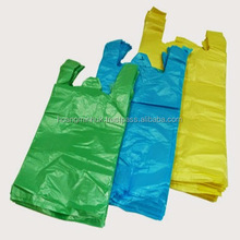 Cheap virgin PE plastic t-shirt shopping bags printing