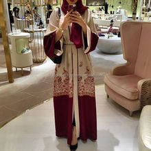 Very Popula Unique Abaya Looking Good Red And Maroon Color Our Hot Famous Abaya Kimo For Girls