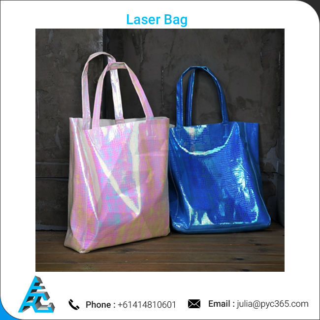 Laser PU Made High Quality Tote Bag for Girls