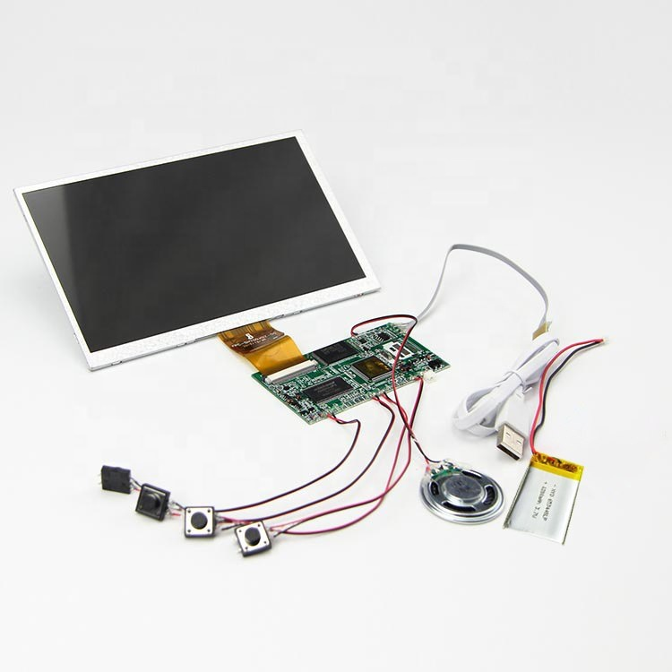 Professional custom high quality 7 inch hd tft lcd module video brochure card display with EVA foam