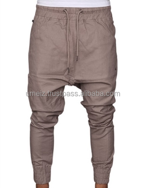 Men Twill Harem Pants, Custom Men Drop Crotch Twill jogger Pants