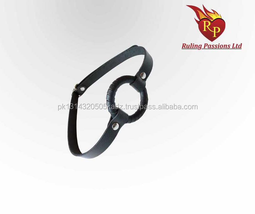 New Mouth Open Leather Wrapped Ring Gag