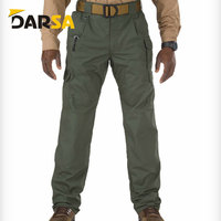 High quality windproof blank pockets men outdoor casual military trousers classic black tactical pants