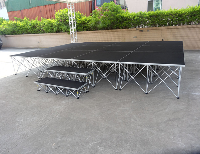 mobile aluminum stage decent acrylic portable