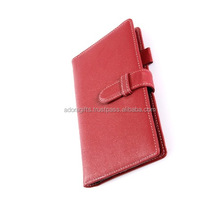Customized school diary covers design / popular a4 leather organizer notebook / cheap student planners