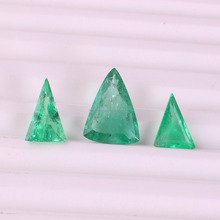 Natural colombian emerald trillion shape faceted emerald loose gemstone