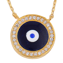 Evil Eye Design Necklaces Turkish 925 Sterling Silver Jewelry JSN000C-094