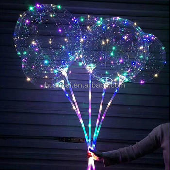 New product Flashing Led Glow Bobo Balloon for Christmas Decoration/Led balloon light with stick hold on hands