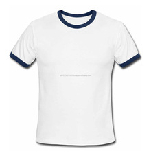 New design white cotton T shirt with Blue outline