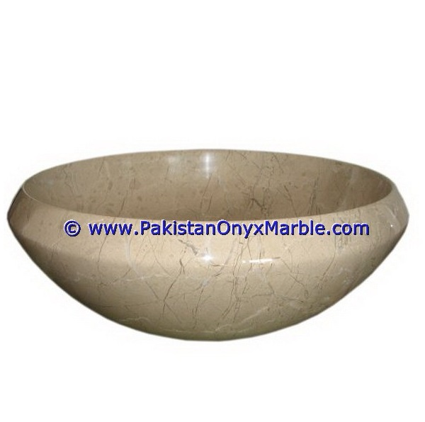 A GRADE VERONA BEIGE MARBLE SINKS BASINS