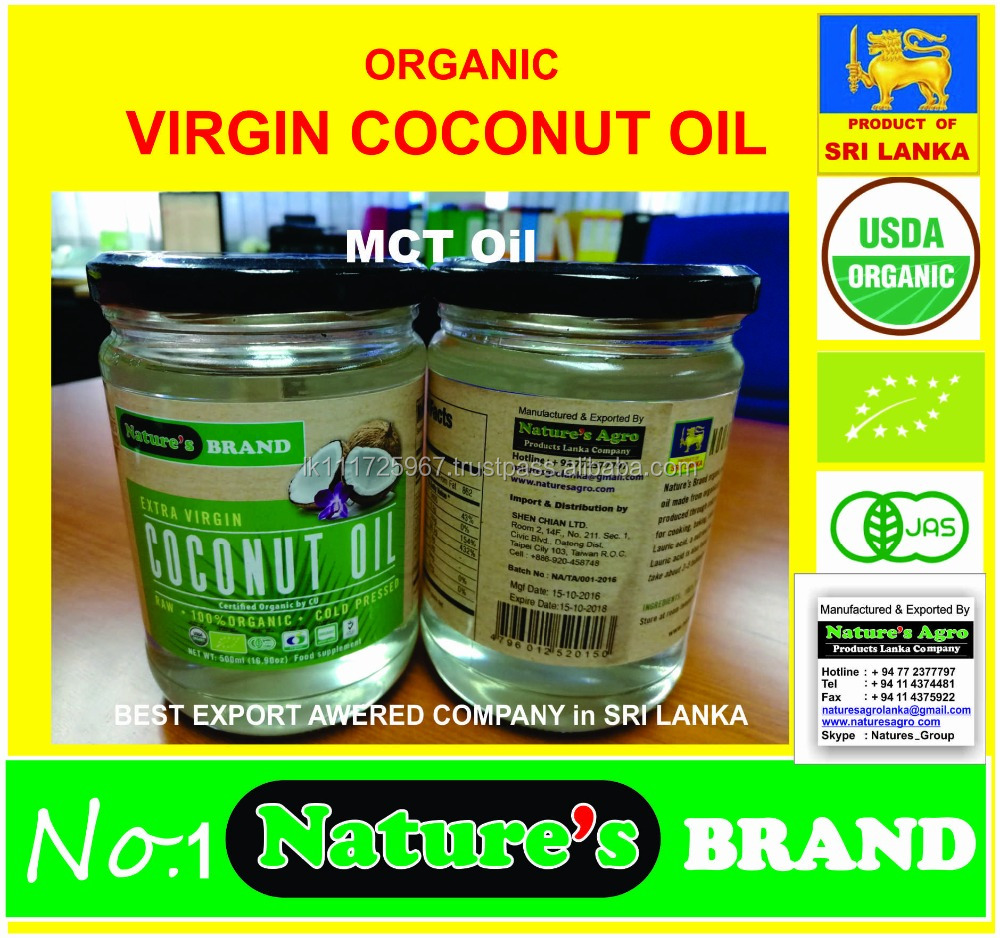 COLD PRESSED VIRGIN COCONUT OIL - Lowest Price from Sri lanka