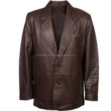 Black Goth Leather Coat for Men