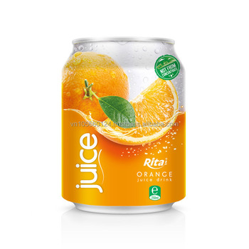 Viet Nam tropical hight quality 250ml short canned Orange Juice
