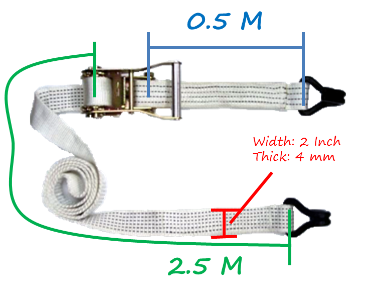 top OEM cargo cam locking buckle ratchet strap