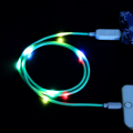 PINYI Newest design Colorful voice control  cable led light, charging for android device