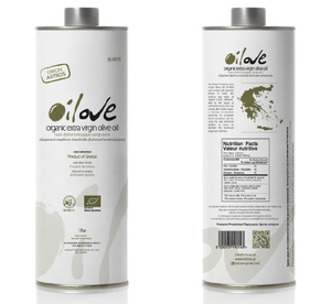 Oilove Limited Greek Organic Extra Virgin Olive Oil (EVOO) in 1 lt Can - Origin Tolofon
