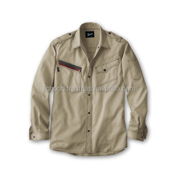 Durable working shirts with long sleeves. Made by Japan