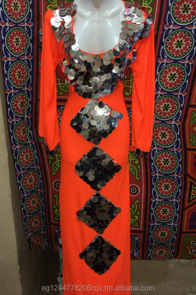 Egyptian New Belly Dance Dress, Saidi Costume,Baladi Galabeya, Fallahi Abaya (Panorama 126 -G)