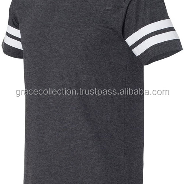 Fancy Striped Short Sleeve Custom Men's Slim Fit T-Shirt
