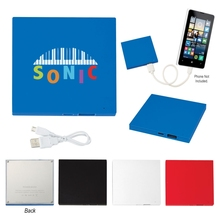 UL Listed Tile Shape Power Bank - has, LED light indicator, micro USB input and USB output and comes with your logo