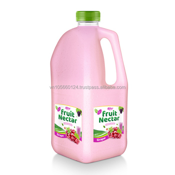 FDA, Halal, Haccp, ISO VietNam Whosaler beverage drink nectar grape pulp 2L PP bottle