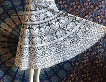 100% Cotton Handmade Long Skirt design traditional mandala skirt