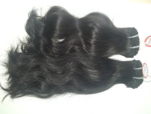 Alibaba manufactory the semi curly/ weavy natural black Vietnamese hair