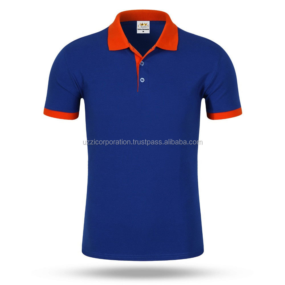 Online Shopping 100% Cotton Blank Plain Polo Shirts Custom Printing Embroidery