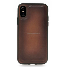 New Design Leather mobile phone back cover case for iphone X