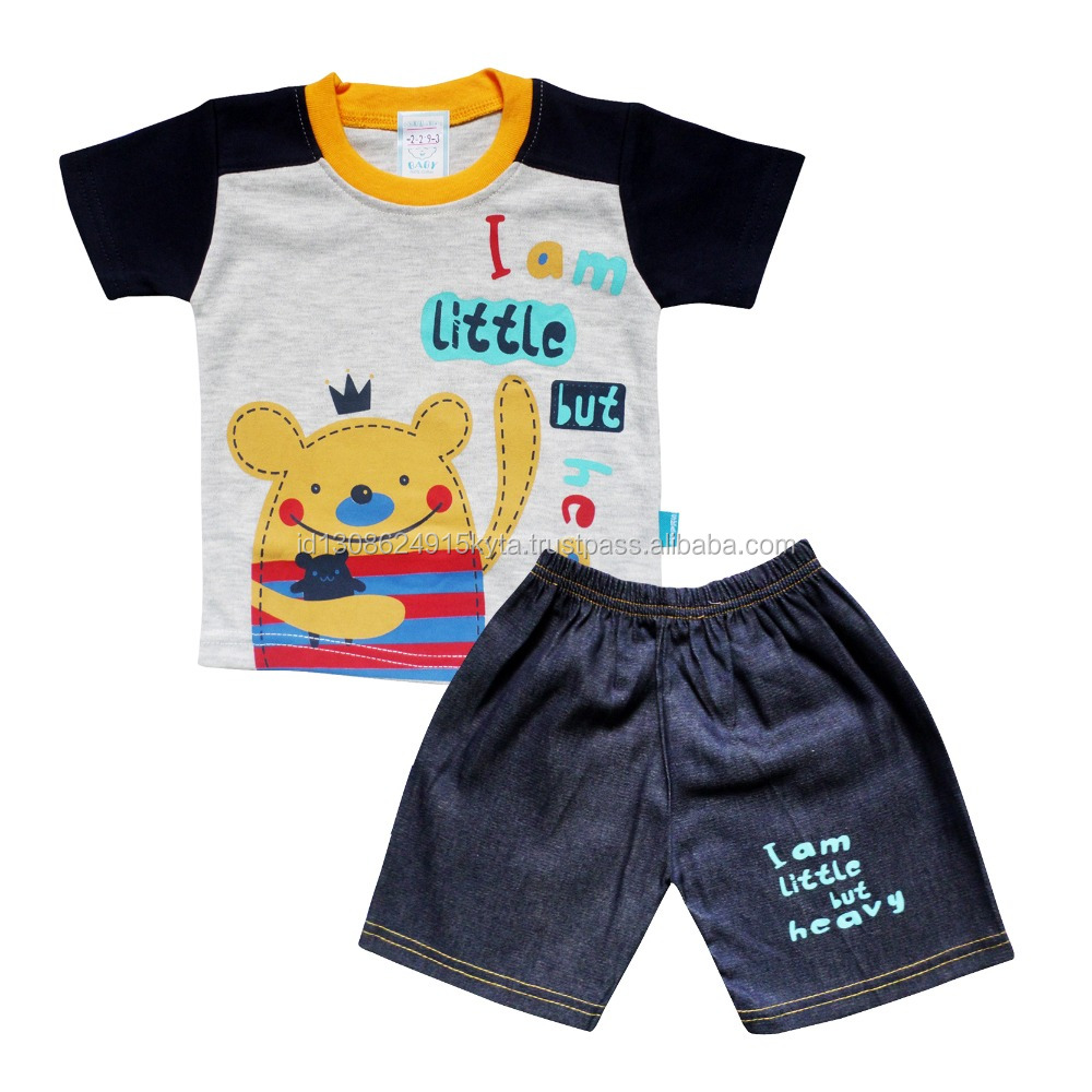 New Sale 100 % Cotton Clothing For Toddlers and Infant Baby Boys T-shirt with Jeans SKCO2293M