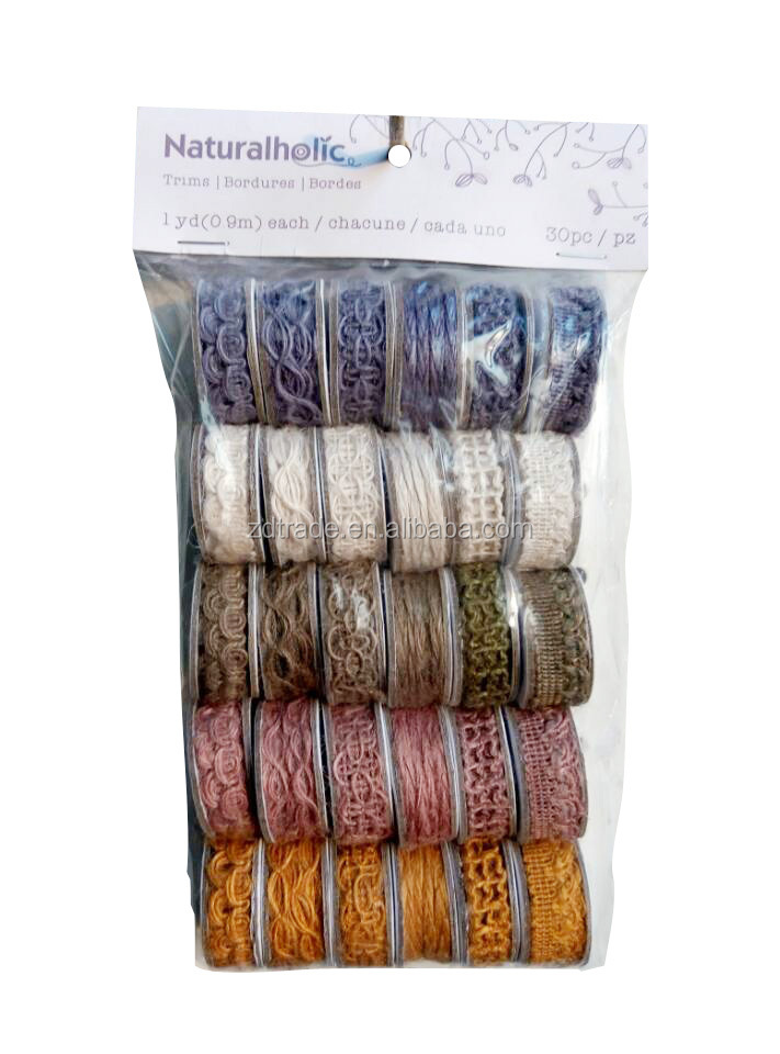 1PACK to SELL! JUTE RIBBON MIX & MATCH PACK Gift Wrapping Ribbon