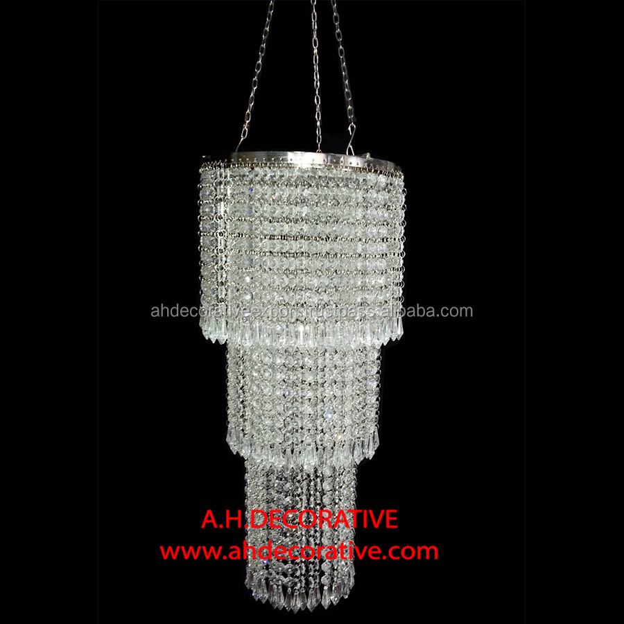 Round Hanging Crystal Chandelier