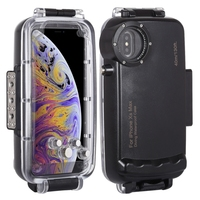 Professional 40m/130ft Waterproof Phone Case for iPhone XS Max, for iPhone Waterproof Case,PULUZ Diving case for iPhone Black