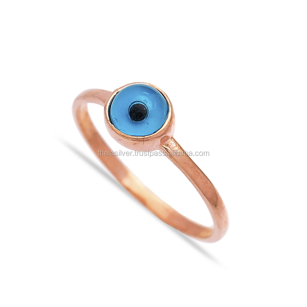 With Evil Eye Design Turkish Wholesale Handcrafted Infinite 925 Sterling Silver Ring