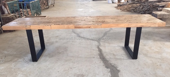 Industrial Style Reclaimed Teak Dining Table