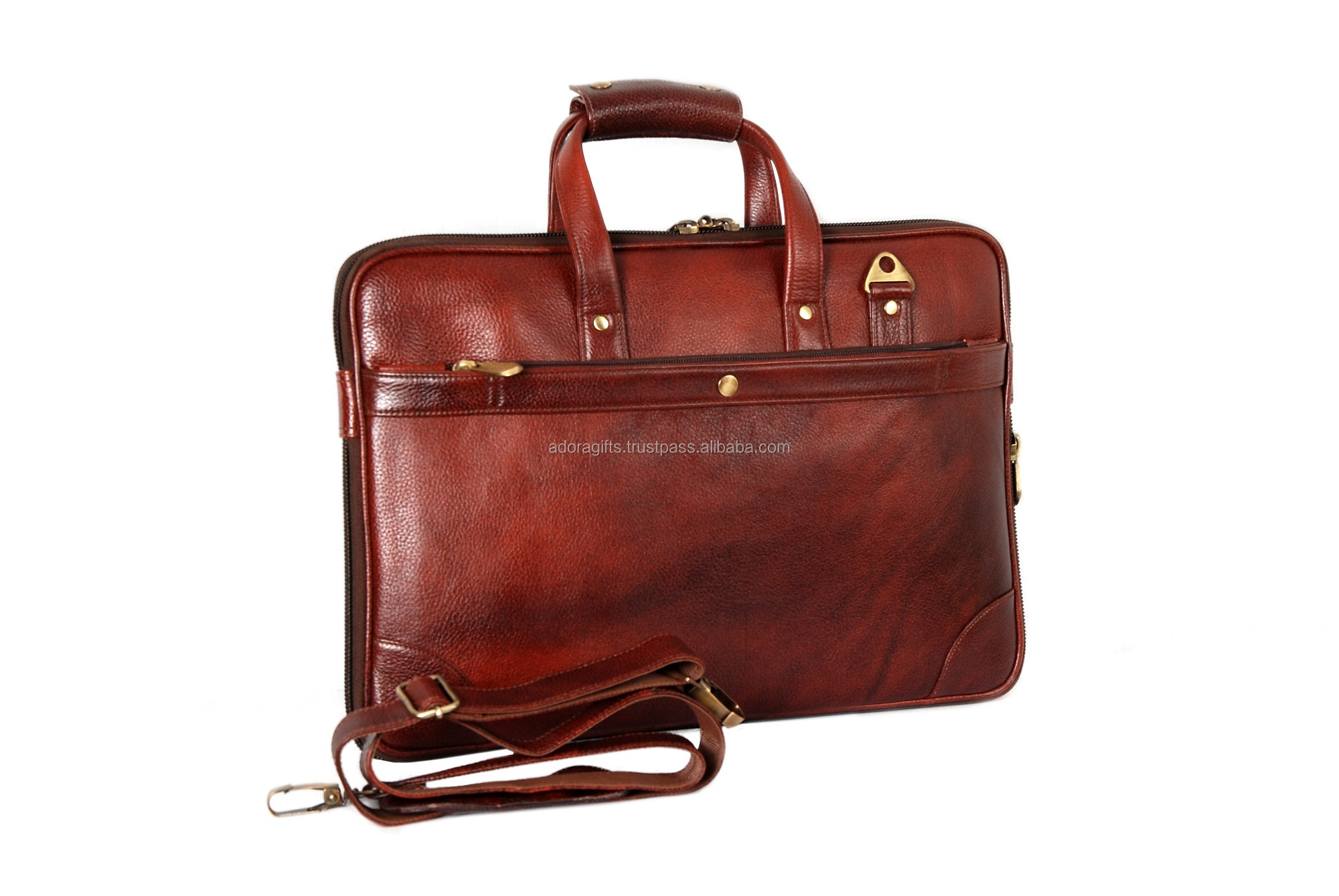 Customizable Size Slim Leather Laptop Bag Conference Meeting Bag